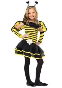 Big Girls' Busy Bee Costume Small  by Fun World