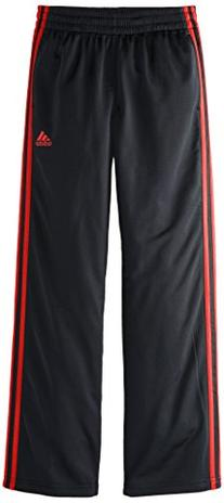 adidas Big Boys' Designator Pant, Black/Scarlet, Medium