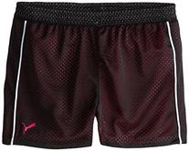 PUMA Big Girls' Active Double Mesh Short, Black, 12-14