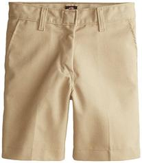 Dickies Big Boys' Flat Front School Uniform Short, Khaki, 14