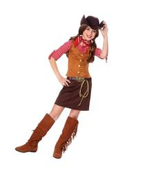 Official Costumes Girls Big Gun Slinger Costume, Medium