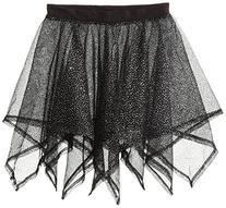 Danskin Big Girls' Iridescent Handkerchief Skirt, Rich Black