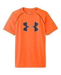 Kids Under Armour Boys Tech Big Logo Shortsleeve, Anthracite