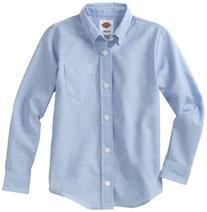 Dickies Big Boys' Long Sleeve Oxford Shirt, Light Blue,