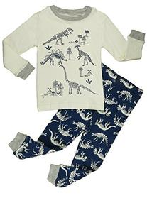 "Verafahion ""Dinosaur"" Big Boys' 2-Piece Long Sleeve Pajama"