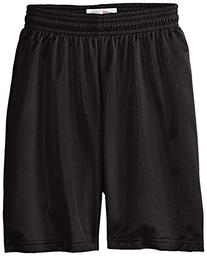 Soffe Big Boys' Nylon Mini Mesh Fitness Short, Light Gold, X