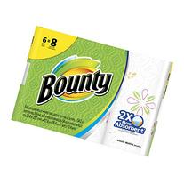 Bounty Big Roll Paper Towels, Prints, 6 Count