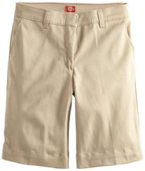 Dockers Big Girls'  Plus-Size Twill Bermuda Short, Khaki, 14