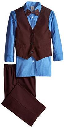 Big Boys' Poplin 3 Piece Vest Set, Galaxy Blue, 08