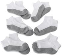 Jefferies Socks Big Boys' Seamless-Toe Athletic Sock , White