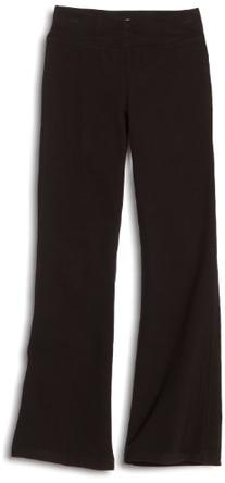 Danskin Big Girls' Shirred Waist Bootleg Pant, Black, Medium