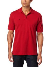 IZOD Men's Big and Tall Heritage Short Sleeve Polo, Real Red