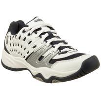 Prince Little Kid/Big Kid T22 Tennis Shoe,White/Navy/Silver,