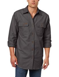Carhartt Men's Chamois Shirt Long Sleeve Button Front