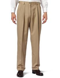 Haggar Big and Tall Dress Pants, Cool 18 Pleated Microfiber