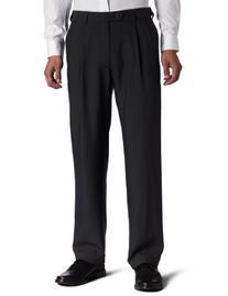 Haggar Men's Big-Tall Repreve Stria Pleat Front Dress Pant,