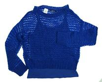GUESS Kids Big Girl Two-Fer Sweater ,Blue - 10/12