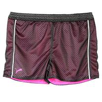 Puma Big-Girls Mesh Athletic Exercise Gym Shorts Hot Pink
