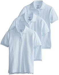 Dockers Big Boys' Uniform 3 Pack Short Sleeve Pique Polo