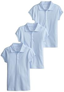 Dockers Big Girls'  Uniform 3 Pack Short Sleeve Polo Bundle