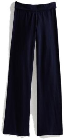 Soffe Big Girls' Yoga Pant, Navy, Medium