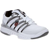 K-Swiss Men's Bigshot Tennis Shoe,White/Silver/Black,8 M