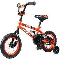 Tauki Kid Bike BMX Bike for Boys and Girls, 12 Inch, Orange