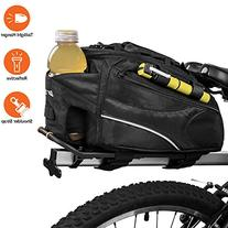 BV Bike Commuter Carrier Trunk Bag with Velcro Pump