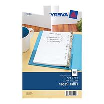 Avery Mini Binder Filler Paper, 5-1/2 X 8-1/2, 7-Hole Punch
