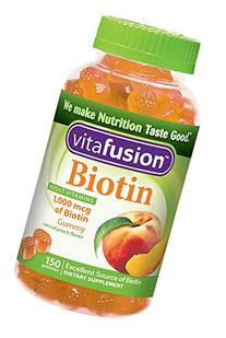 Vitafusion Biotin 1,000mcg Gummies, Natural Peach, 150 ea