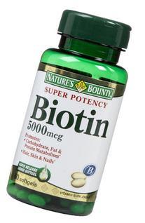 Nature's Bounty Biotin 5,000 mcg Caps, 60 ct