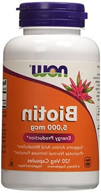 NOW Foods Biotin 5000mcg, 480 Vcaps