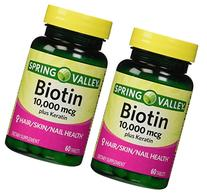 Spring Valley Biotin Dietary Supplement, 10,000 Mg With 100