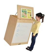 ECR4Kids Birch 3-in-1 Book Display Easel with Dry-Erase