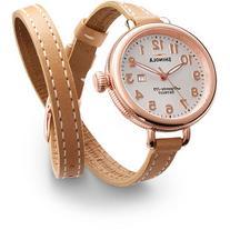 Shinola 34mm Birdy Rose Golden Double-Wrap Watch