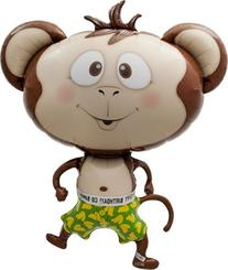 Birthday Banana Monkey Helium Foil Balloon - 41 inch