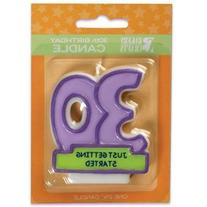 Oasis Supply 30th Birthday Candles, 2.75-Inch
