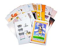Funny Birthday Card Assorted Pack of 24 Cards & 25 Envelopes