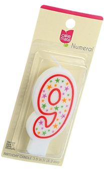 Cake Mate Birthday Party Candle - Numeral - 9 - 3 in - 1