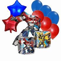 Transformers Birthday Party Decorations Mylar Balloon