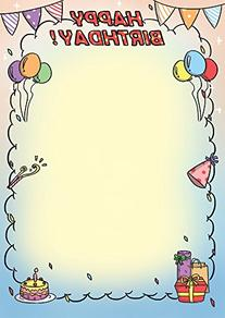 Birthday Party Invitation Stationary Paper 50ct Works on All