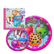 Shopkins Birthday Party Supply Set for 16: Dinner Plates,
