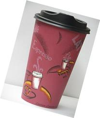 Bistro Design paper Coffee Cups 16 Oz. With lid - 100 sets-
