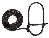 Weaver Leather Rope Cow Halter, Black