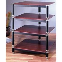 VTI BL404-13 4 Shelf Audio Rack  - Gold / Black / Oak