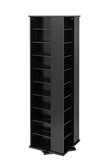 Prepac Large Four-Sided Spinning Tower Storage Cabinet,