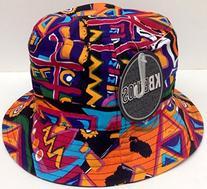 Black Aztec Print Bucket Hat Navajo Pattern Boonie Cap