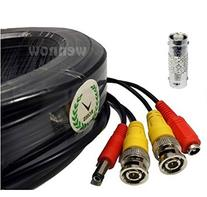 WennoW 165FT Black BNC Male & Power Cable for Swann / Q-see