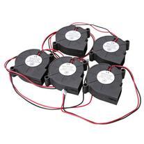 Vktech 5Pcs Black Brushless DC Cooling Blower Fan 5015S 5V 0