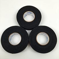 Black Cloth Ice Hockey Tape - 3 Rolls and 1 Koozie